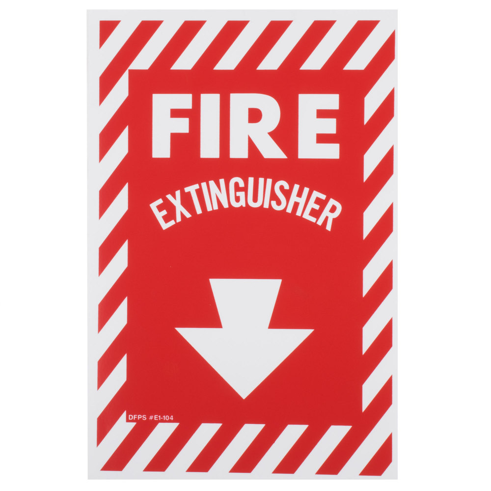 Buckeye Fire Extinguisher Adhesive Label with Border - Red and ...