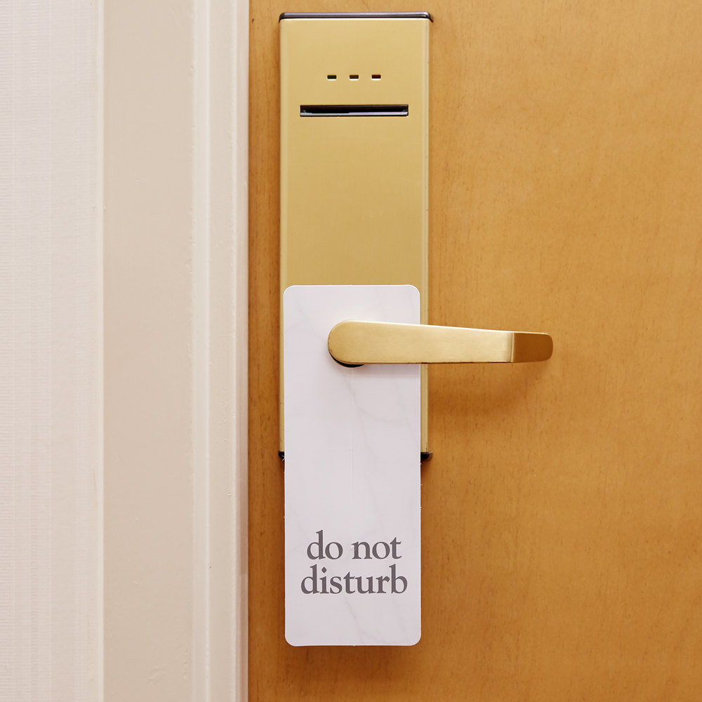 Hotel Room Door Do Not Disturb