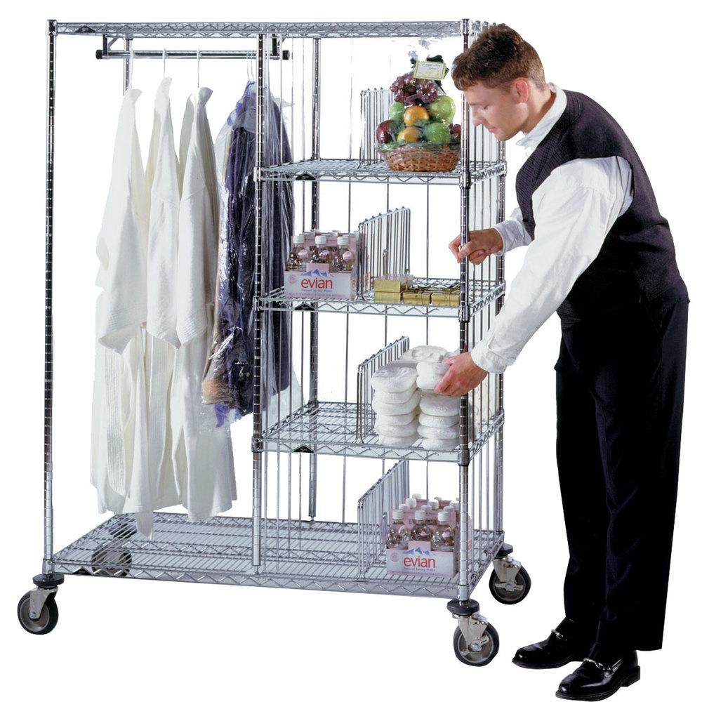 Metro Hvdc2448 Valet Laundry Hotel Cart 24 Quot X 48 Quot X 24 Quot