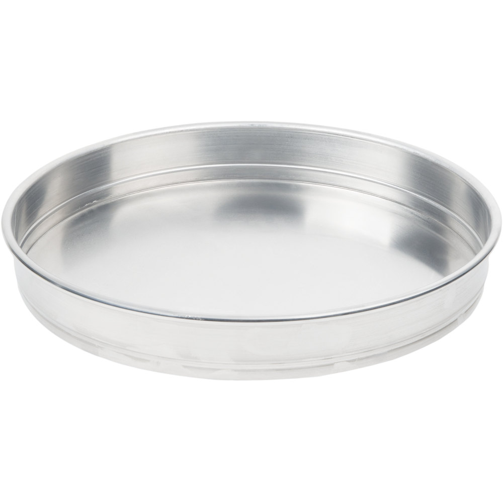 "American Metalcraft HA5006 6"" Straight-Sided Aluminum Pizza Pan - Heavy Weight Aluminum"