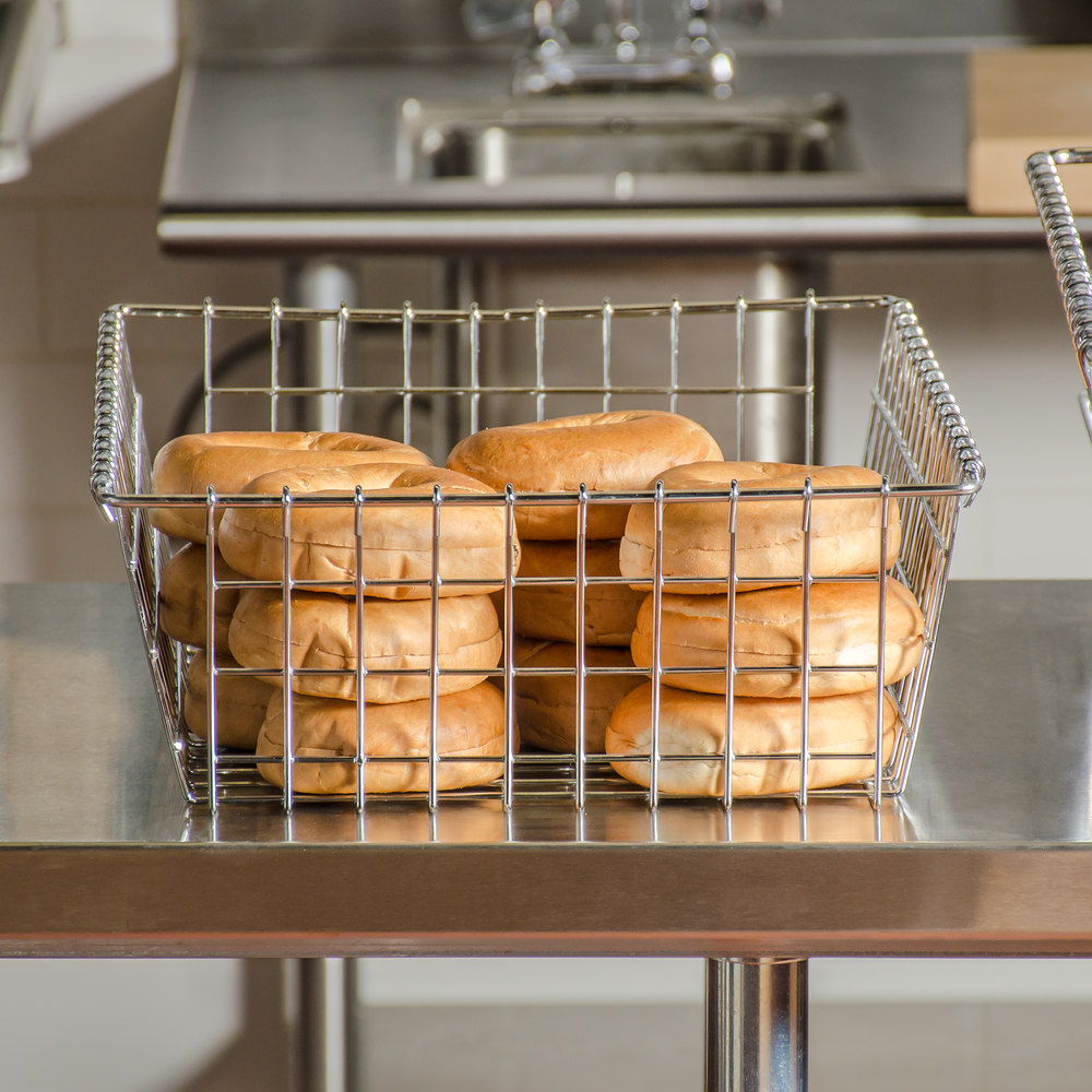 "Choice Level Top Wire Bagel / Bread Basket - 14"" x 20"""