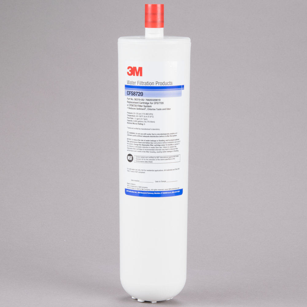 "3M Cuno 5631905 12 7/8"" Replacement Sediment, Chlorine Taste and Odor Reduction Cartridge - 5 Micron and 1.5 GPM"