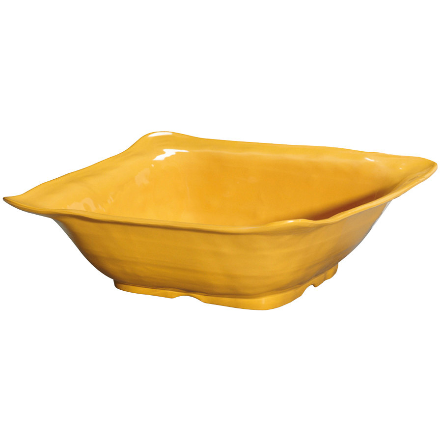 "GET ML-132-TY New Yorker 15"" Square Bowl - Tropical Yellow"
