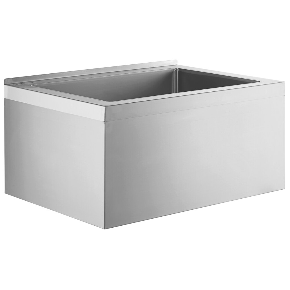 Regency 33 inch 16-Gauge Stainless Steel One Compartment Floor Mop Sink - 28 inch x 20 inch x 12 inch Bowl