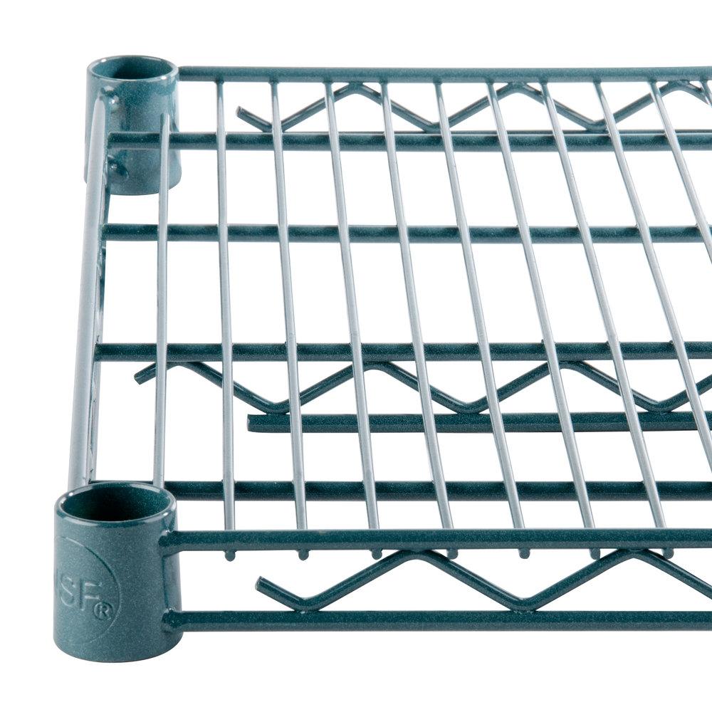 Regency 24 inch x 42 inch NSF Green Epoxy Wire Shelf