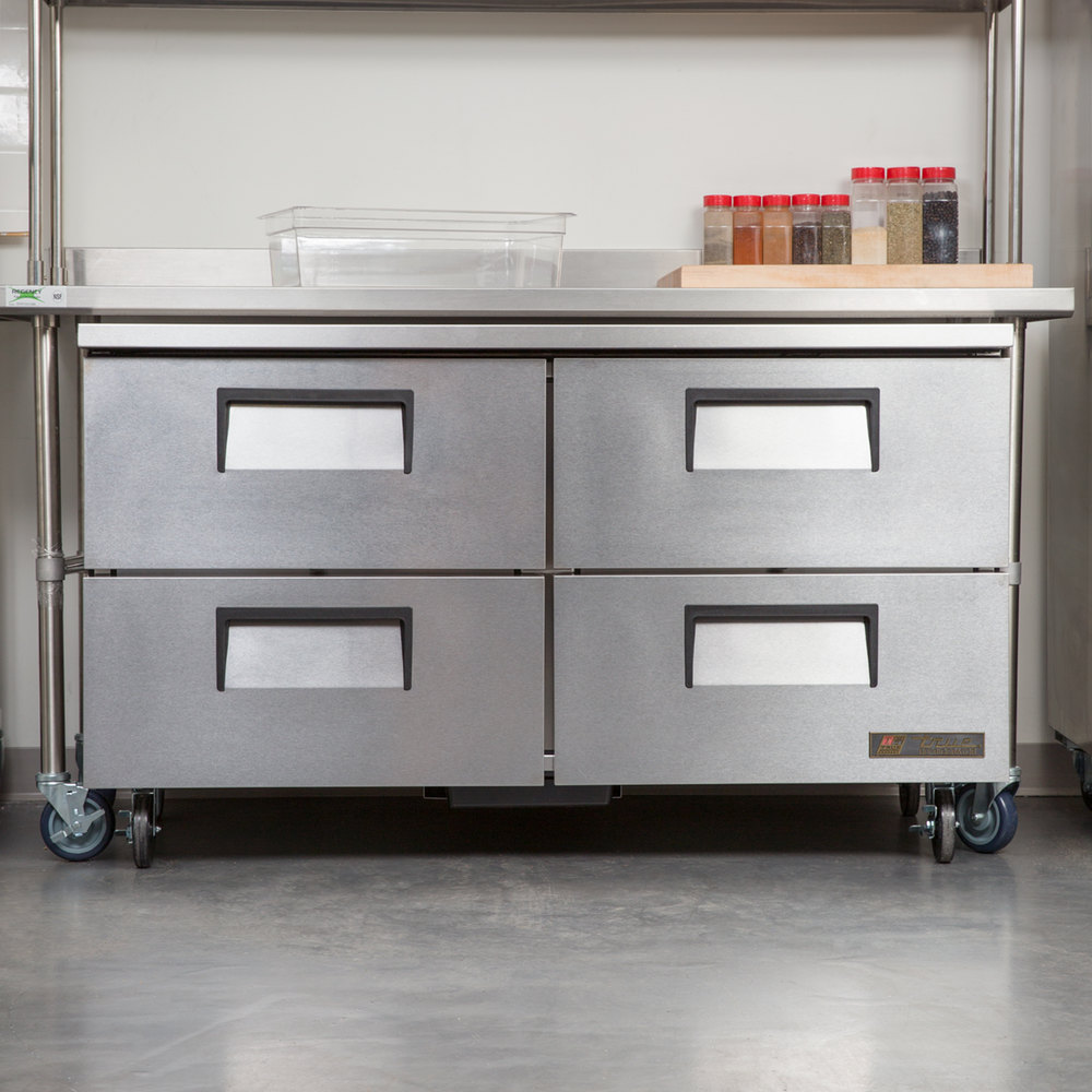 """True Tuc60d4 60"""" Undercounter Refrigerator With Four Drawers. Desk For 7 Year Old. How To Organize A Desk. Wood Log Table. Pottery Table. Samsung Tables. Desk Bedroom. Wood Chest Of Drawers. Drawers For Clothes"""
