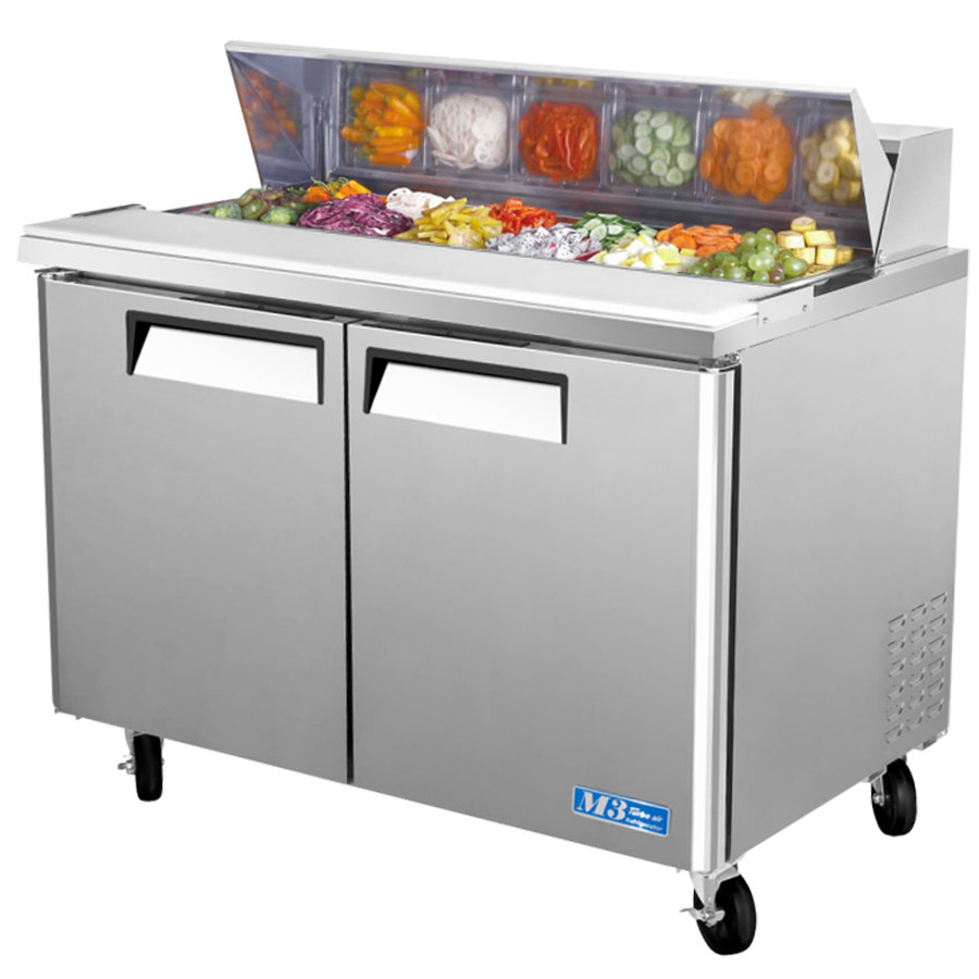 Turbo Air Mst 48 48 Quot 2 Door Refrigerated Sandwich Prep Table