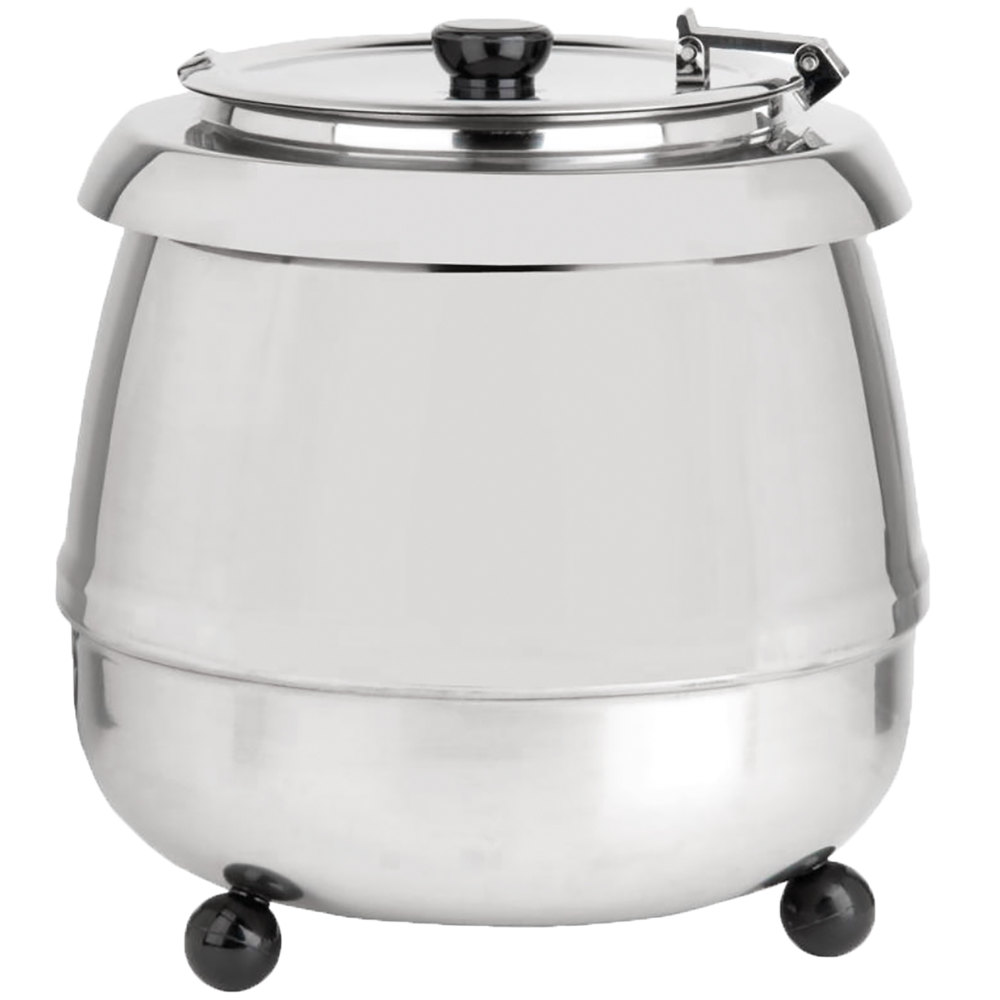 Electric Soup Warmer ~ Avantco s ss qt stainless steel soup kettle warmer