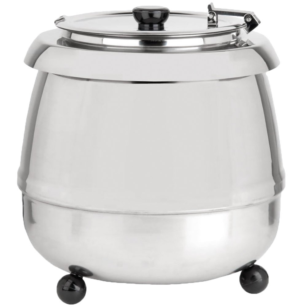 Avantco S30ss 11 Qt Round Stainless Steel Countertop Food