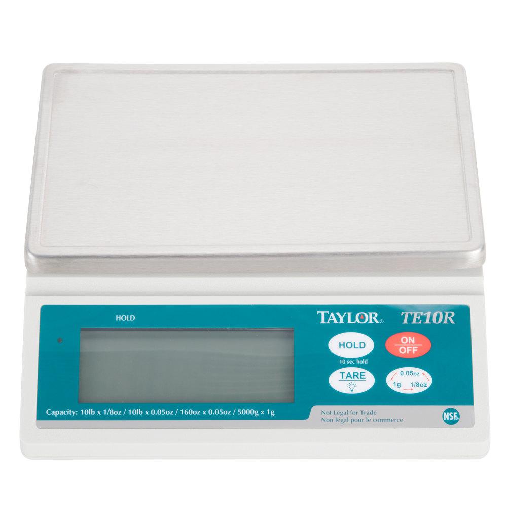 Taylor TE10R 10 lb. Digital Portion Control Scale