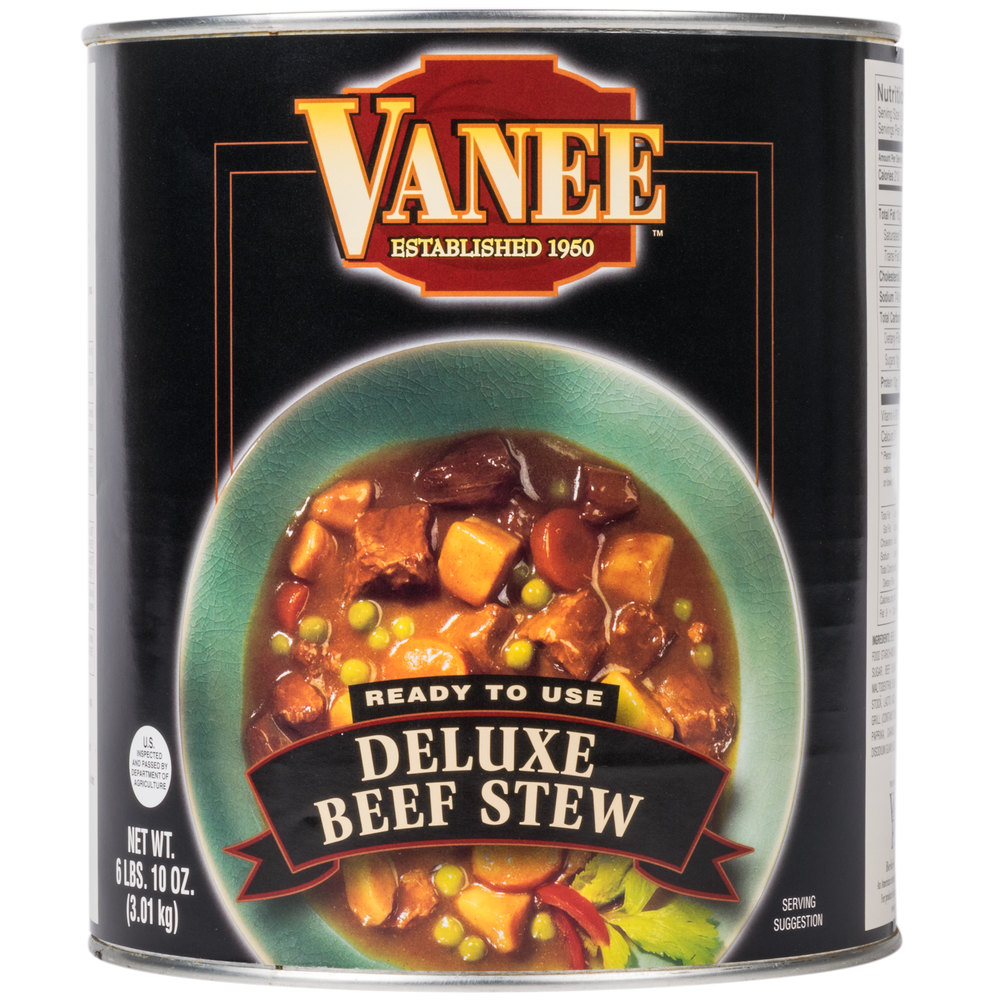 Vanee 490KE #10 Can Deluxe Beef Stew - 6/Case