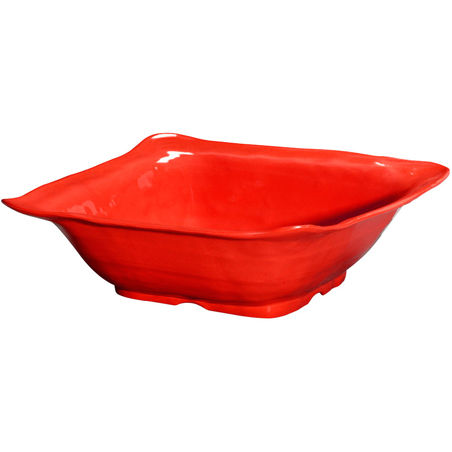 "GET ML-131-R New Yorker 13"" Square Bowl - Red"
