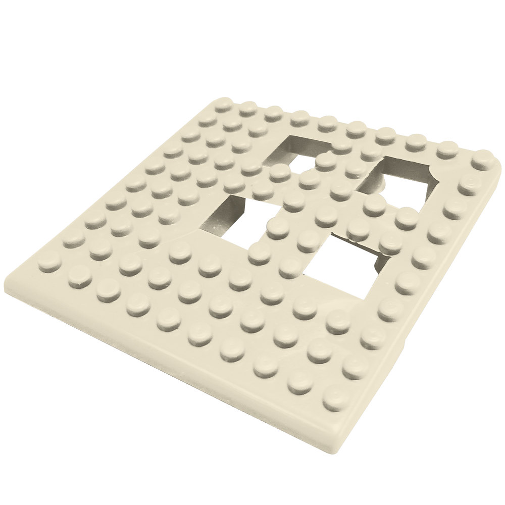 "Cactus Mat 2554-AC Dri-Dek 2"" x 2"" Almond Vinyl Interlocking Drainage Floor Tile Corner Piece - 9/16"" Thick"