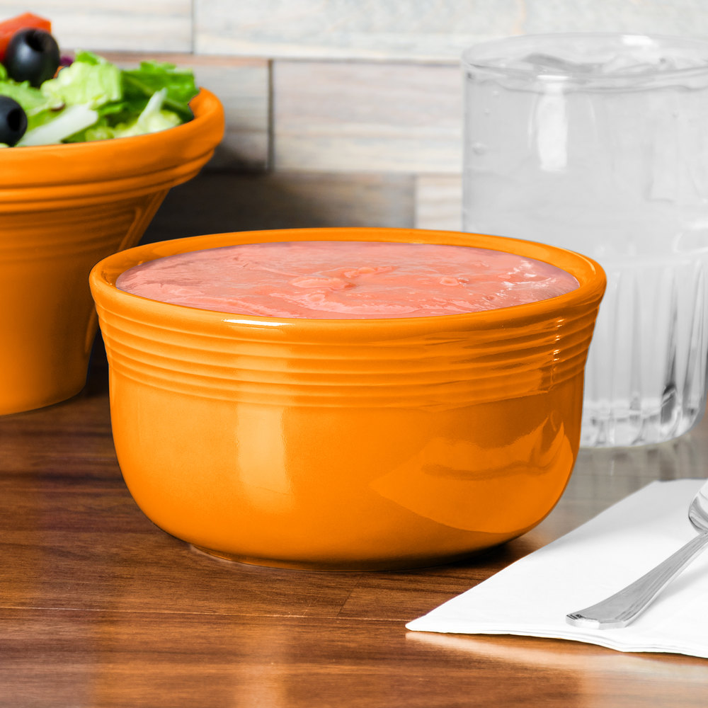 Homer Laughlin 723325 Fiesta Tangerine 24 oz. Gusto Bowl - 6 / Case