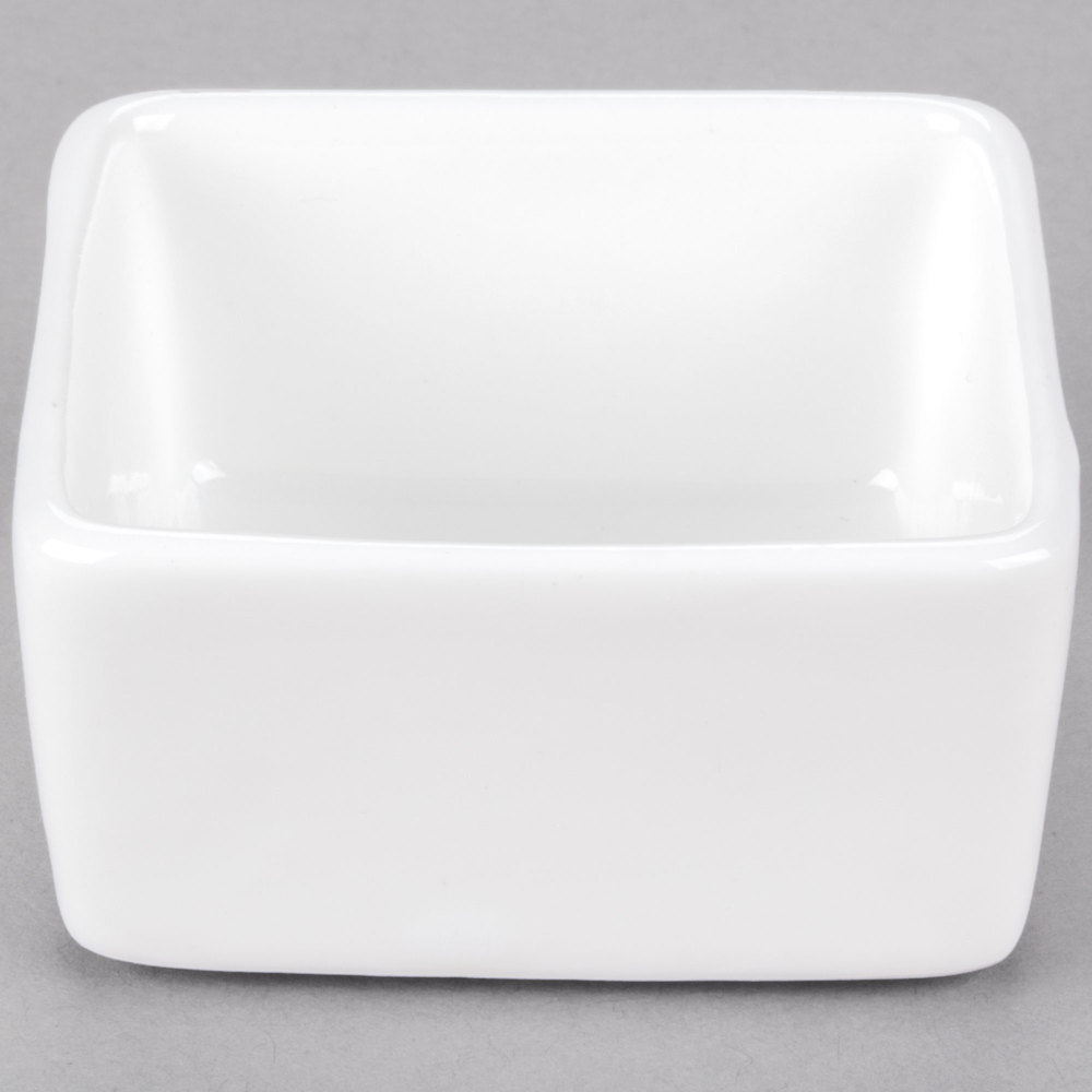 Cardinal Chef & Sommelier S1052 Purity 2 oz. White Square Bowl - 24/Case