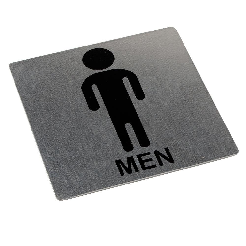 5 X 5 Men Restroom Sign Stainless Steel