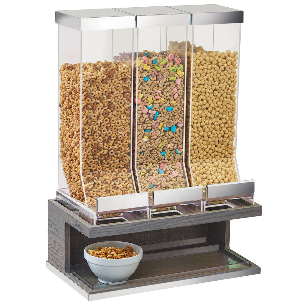 Cal Mil 3823 83 Ashwood 3 Compartment Gray Oak Wood Cereal