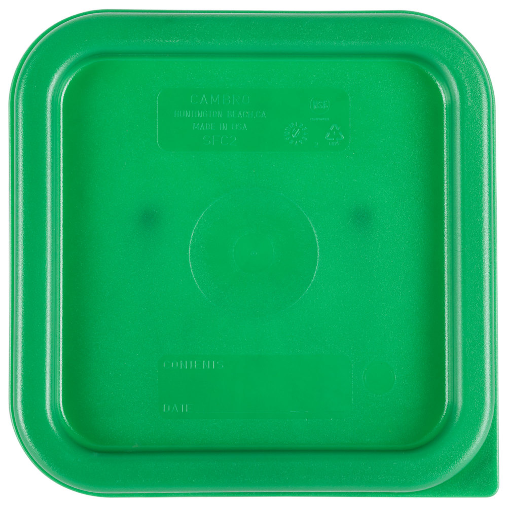 Cambro Sfc2452 Kelly Green Square Polyethylene Lid For 2