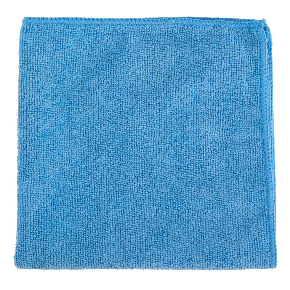 "16"" X 16"" Blue Microfiber Cleaning Cloth"