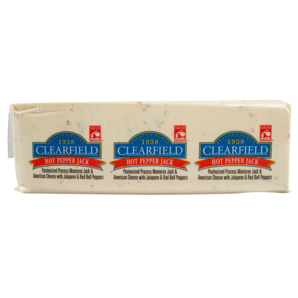Clearfield Hot Pepper Jack American Cheese - 5 lb  Solid Block