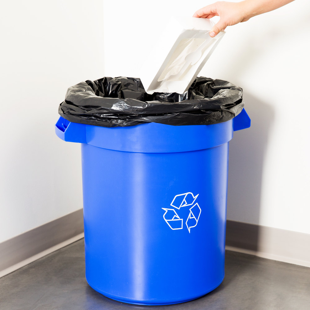 20 Gallon Blue Recycling Trash Can