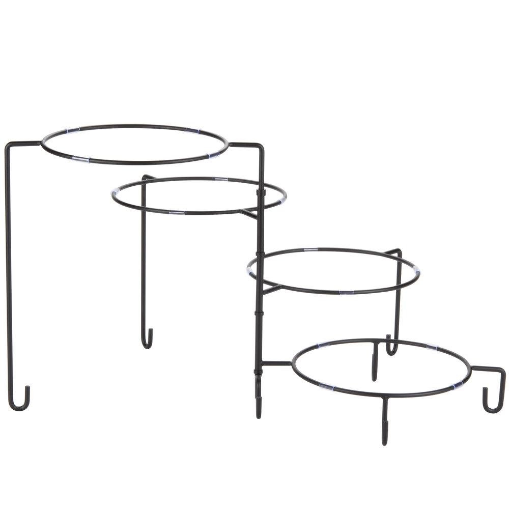 Tablecraft Bkp4 4 Tier Metal Display Stand Black