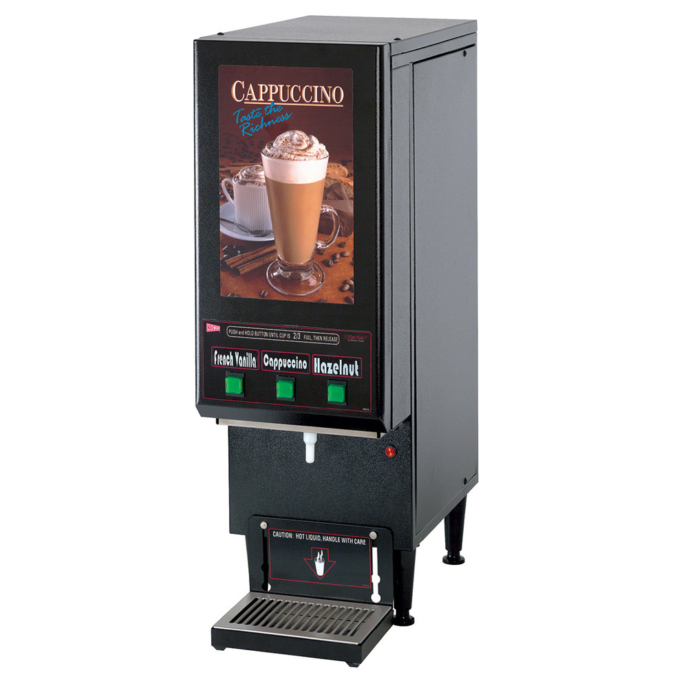 Cecilware GB3CP Cappuccino Dispenser with 3 Hoppers - 120V