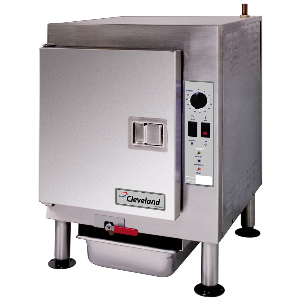 Commercial Countertop Steamer ~ V cleveland scemcs steamcub pan electric countertop