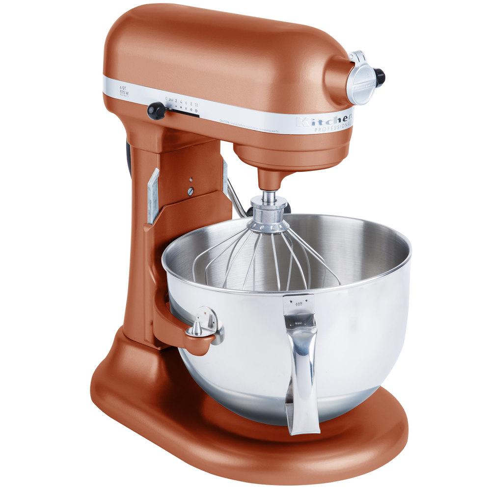 Kitchenaid Kp26m1xce Pro 600 Series Copper Pearl 6 Qt