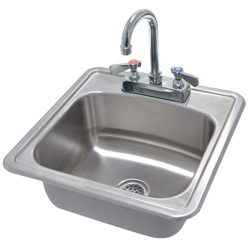 Stainless Steel Utility Sink Drop In : Advance Tabco DI-1-1515 Drop In Stainless Steel Sink 15