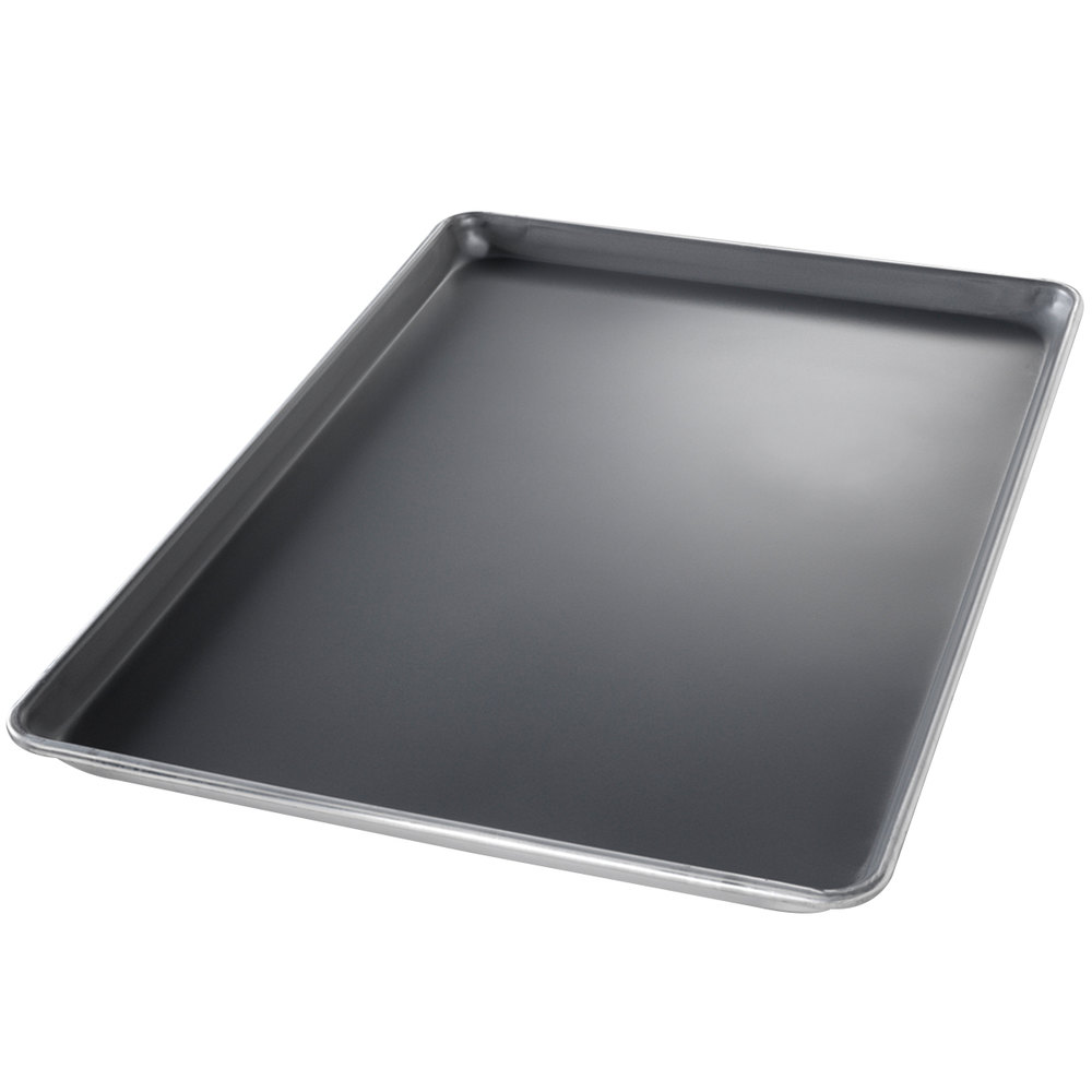 "Chicago Metallic 40858 Half Size 18 Gauge DuraShield Aluminum Sheet Pan - Wire in Rim, 13"" x 18"""