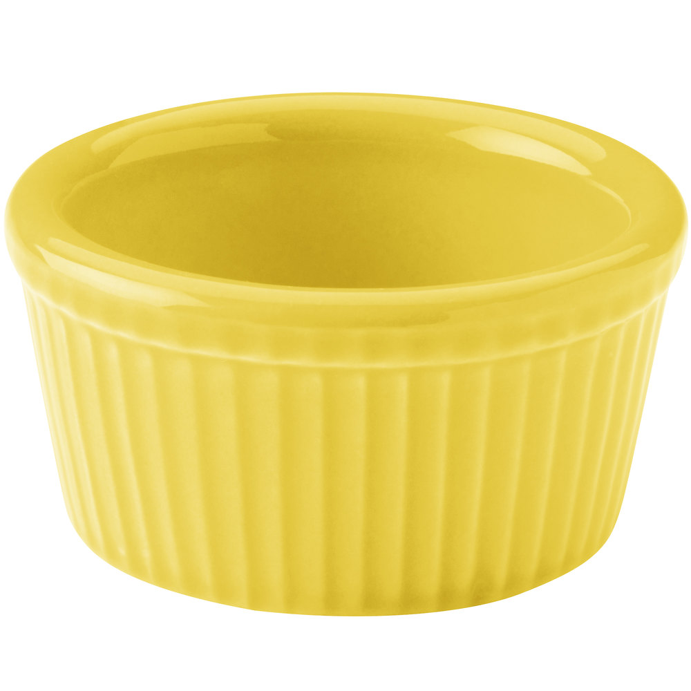 Hall China 30834320 Sunflower 2.75 oz. Colorations Fluted Ramekin - 36 / Case