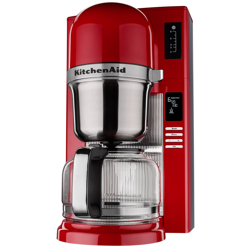 Kitchenaid Coffee Maker Wiring Diagram Schematic Diagrams Farberware Pot Kcm0802er Empire Red 8 Cup Custom Automatic Pourover Of Bunn