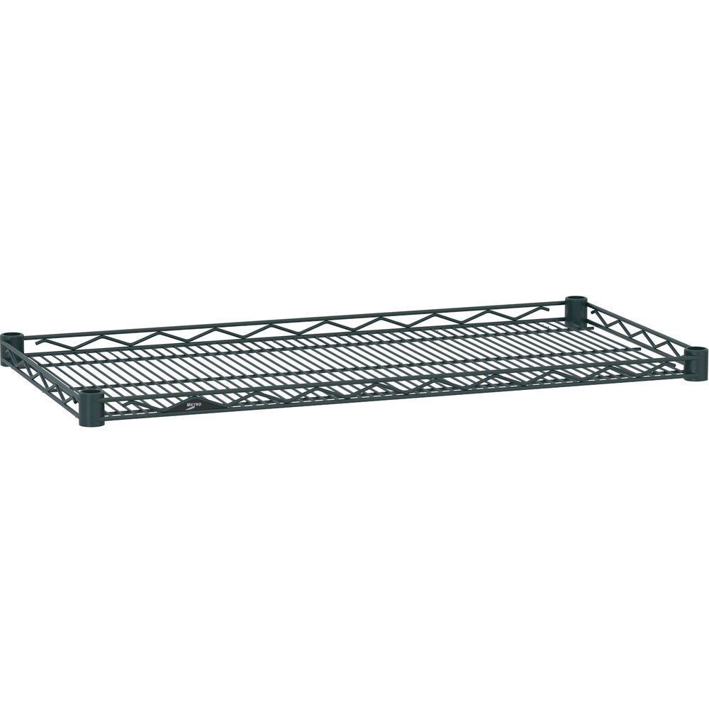 "Metro HDM2436-DSG Super Erecta Smoked Glass Drop Mat Wire Shelf - 24"" x 36"""