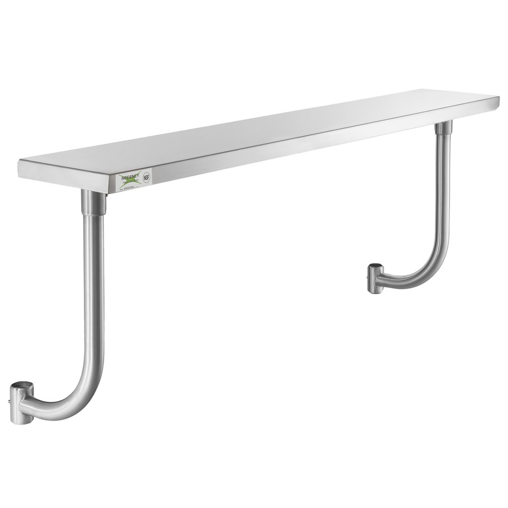 Regency 10 inch x 60 inch Stainless Steel Adjustable Work Surface for 60 inch Long Equipment Stands