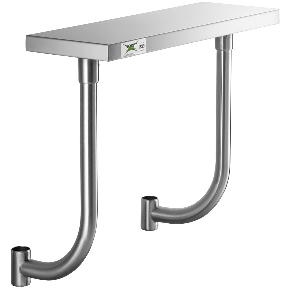 Regency 10 inch x 30 inch Stainless Steel Adjustable Work Surface for 30 inch Long Equipment Stands