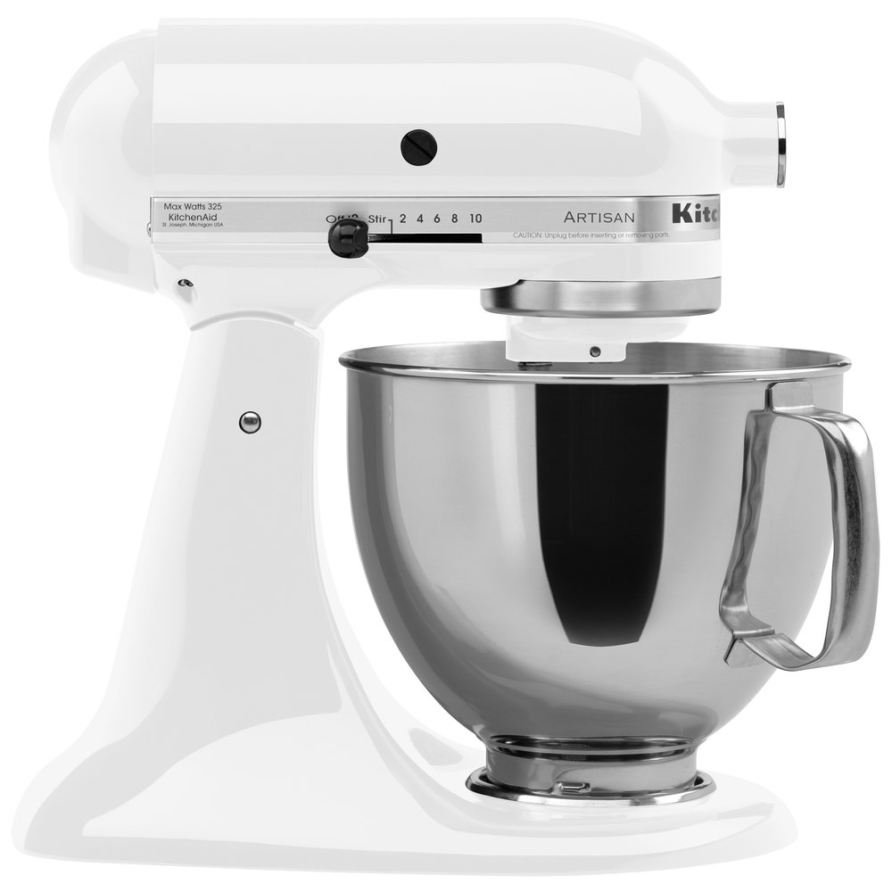 KitchenAid KSM150PSWH White Artisan Series 5 Qt