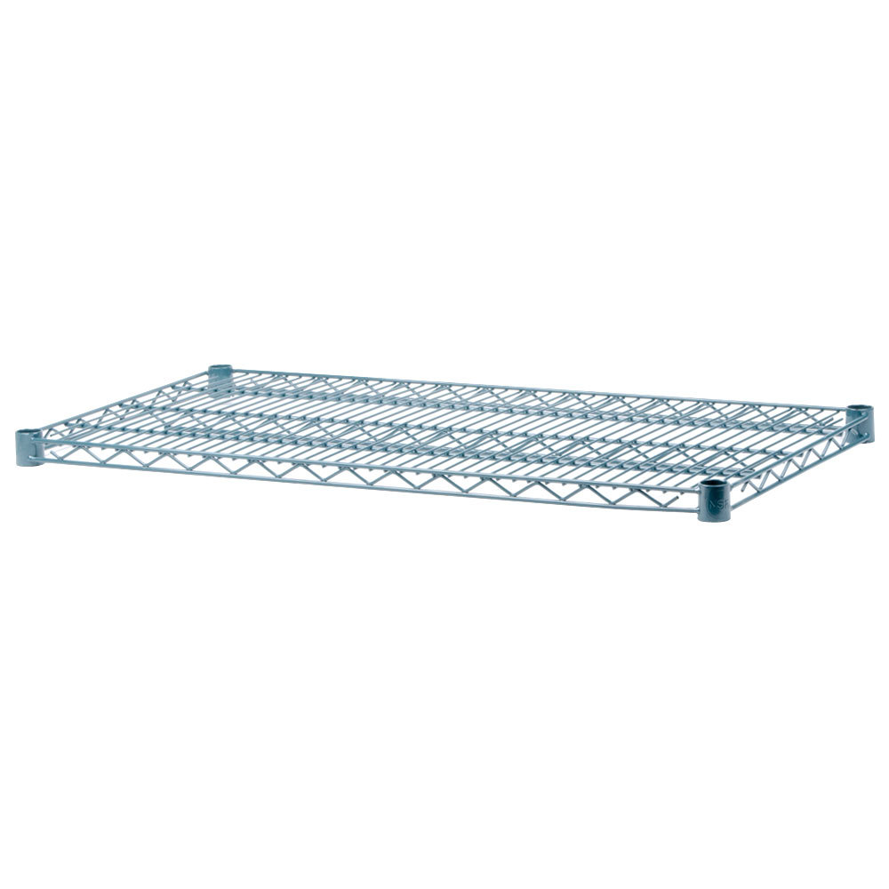 Regency 30 inch x 60 inch Green Epoxy Wire Shelf