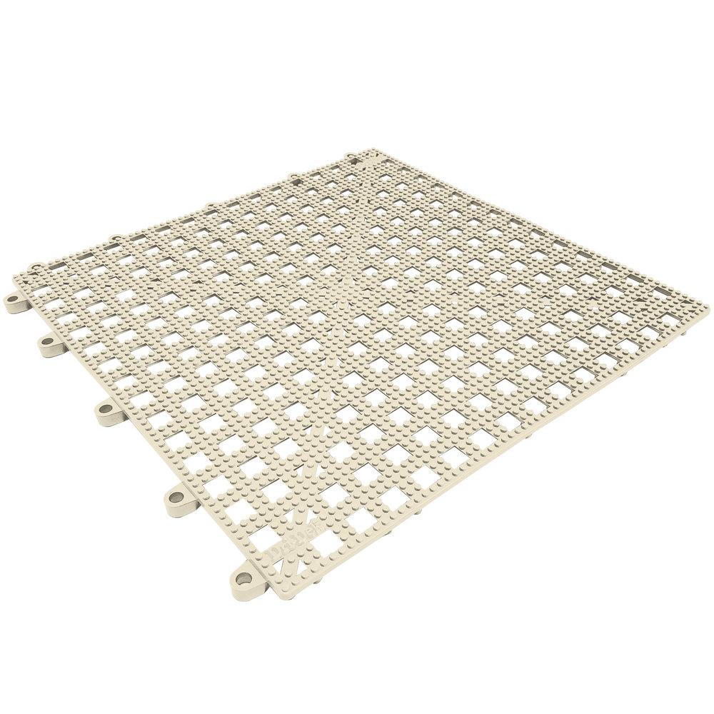 Cactus mat 2554 at dri dek 12 x 12 almond vinyl for 12 mm thick floor tiles