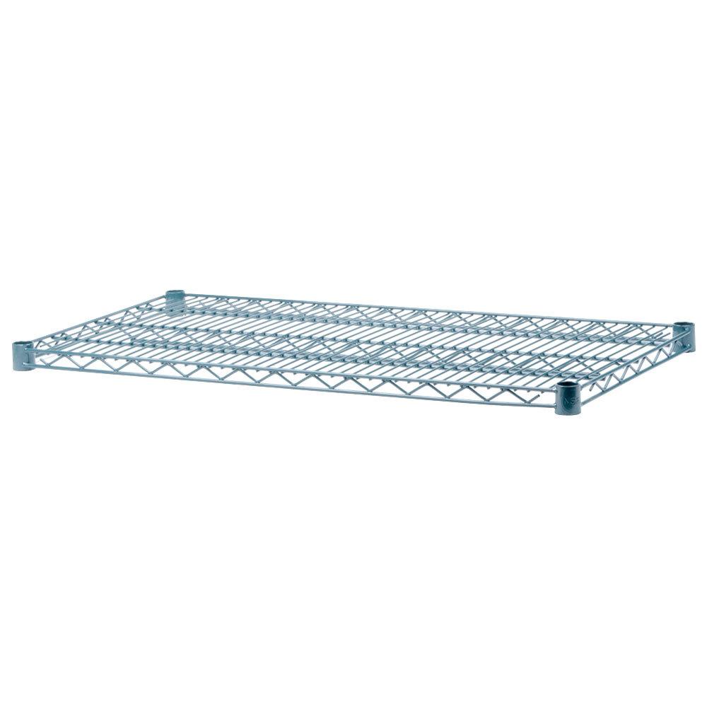 Regency 30 inch x 72 inch Green Epoxy Wire Shelf