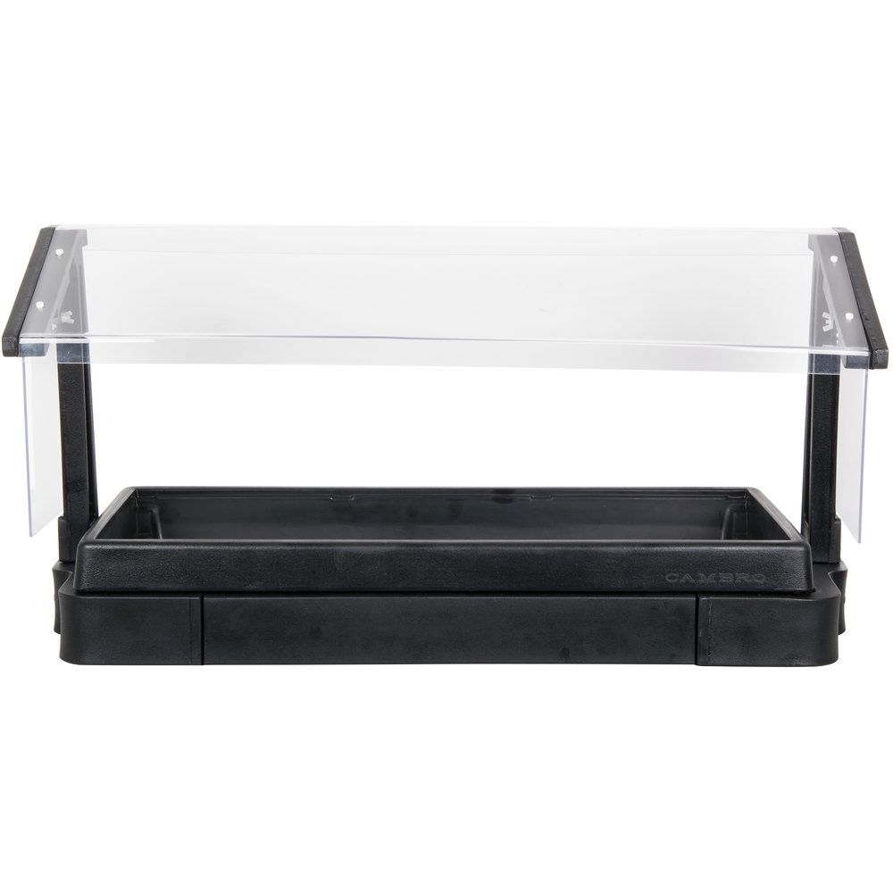 Cambro BBR480110 4' Black Buffet / Salad Bar with Sneeze Guard