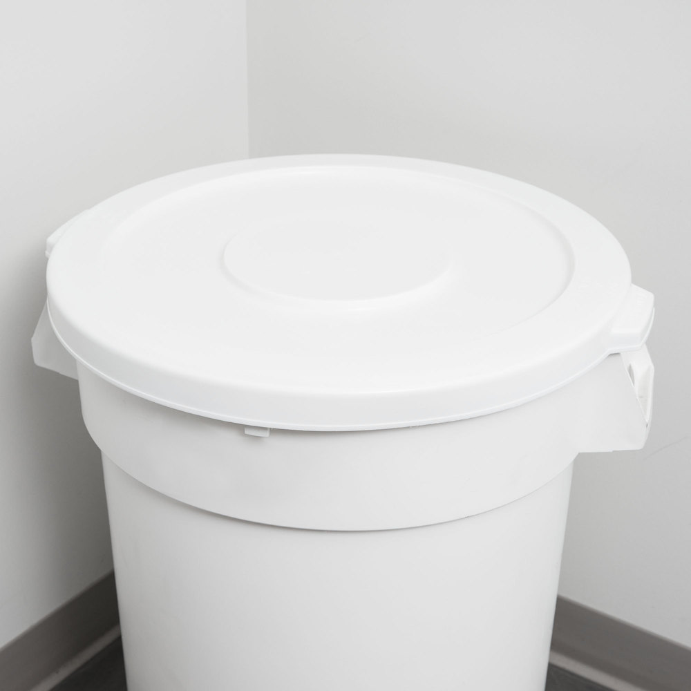 Continental 3201WH Huskee 32 Gallon White Trash Can Lid