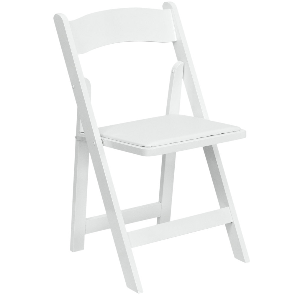 Attrayant Flash Furniture XF 2901 WH WOOD GG White Wood Folding Chair With Padded Seat