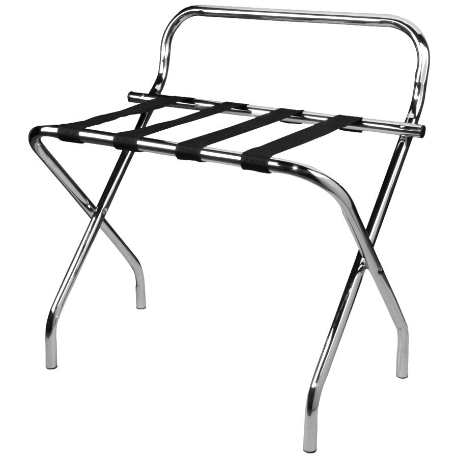 Lancaster Table Amp Seating Chrome Folding Luggage Rack With Guard