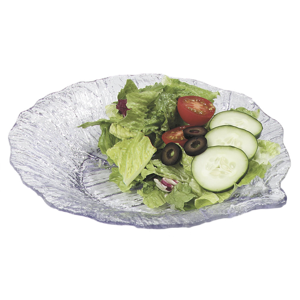 "Carlisle 034707 Clear 9"" Leaf Plate 12 / Case"
