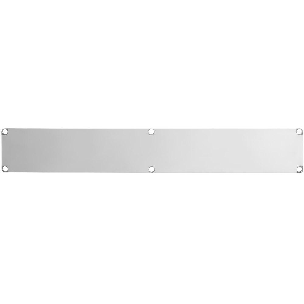 Regency Adjustable Stainless Steel Work Table Undershelf for 18 inch x 96 inch Tables - 18 Gauge