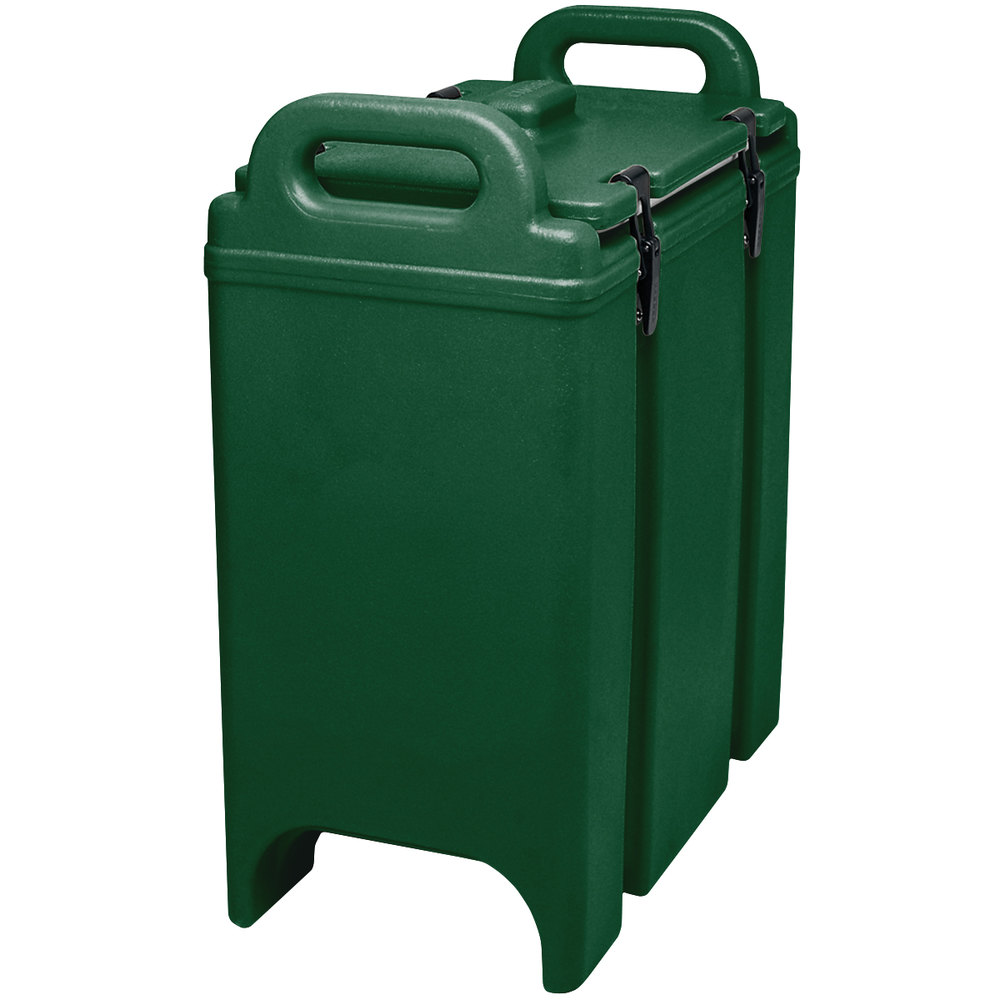 Cambro 350LCD519 Green 3.375 Gallon Camtainer Insulated Soup Carrier