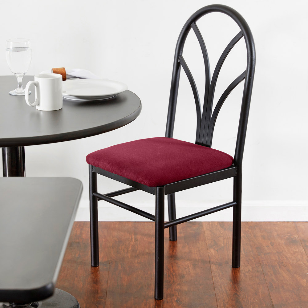 Astonishing Lancaster Table Seating Maroon 4 Spoke Restaurant Dining Room Chair With 1 3 4 Padded Seat Ibusinesslaw Wood Chair Design Ideas Ibusinesslaworg