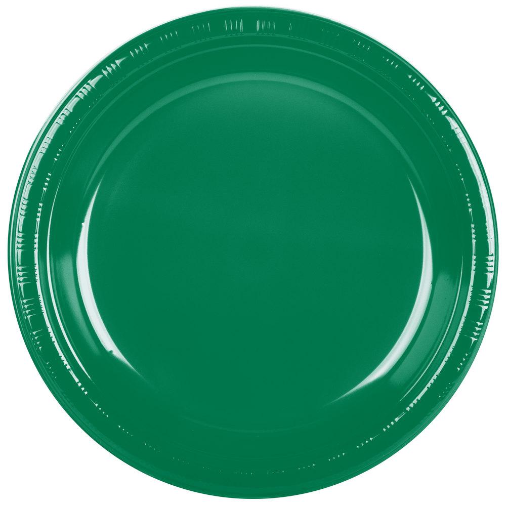 Creative Converting 28112031 10 Quot Emerald Green Plastic