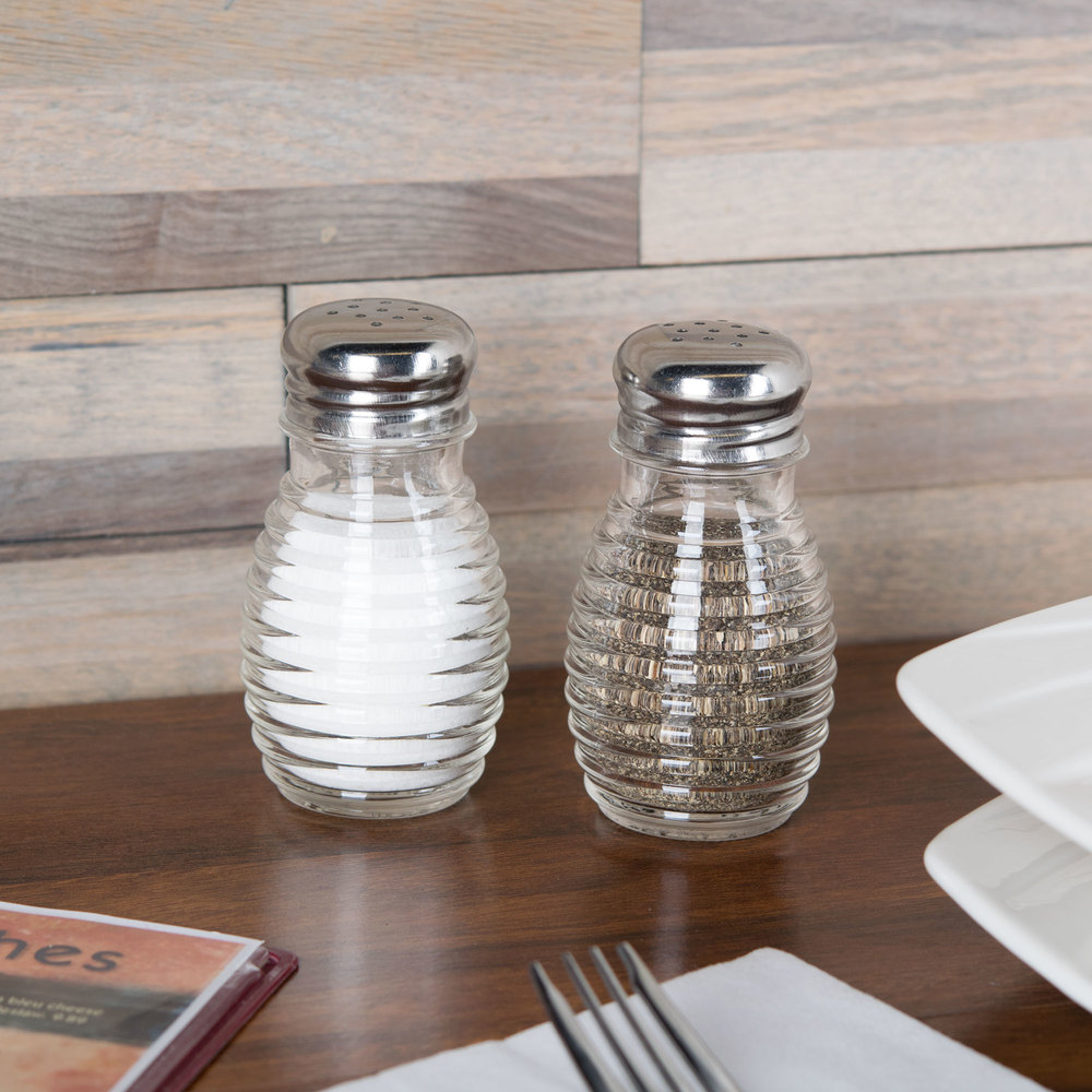 American Metalcraft BHM2 2 oz. Beehive Salt and Pepper Shaker - 4/Pack